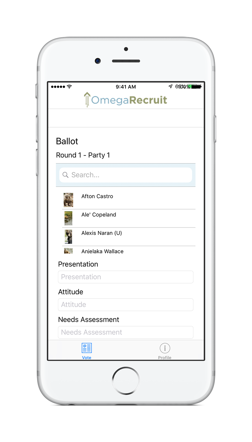 sorority recruitment software_mobile app